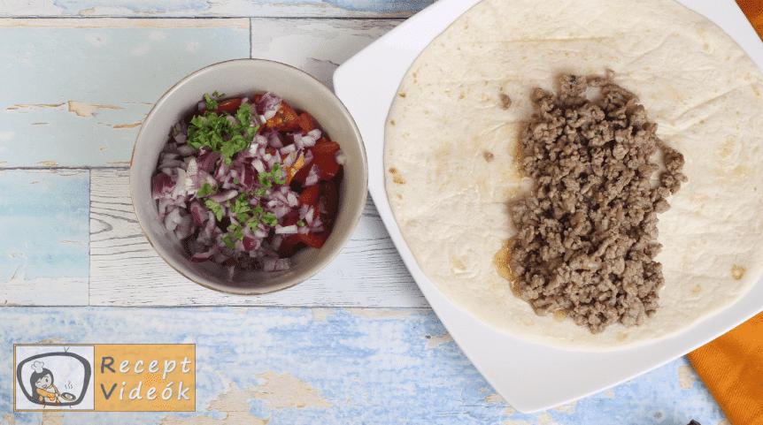 Burrito recept, burrito elkészítése 3. lépés
