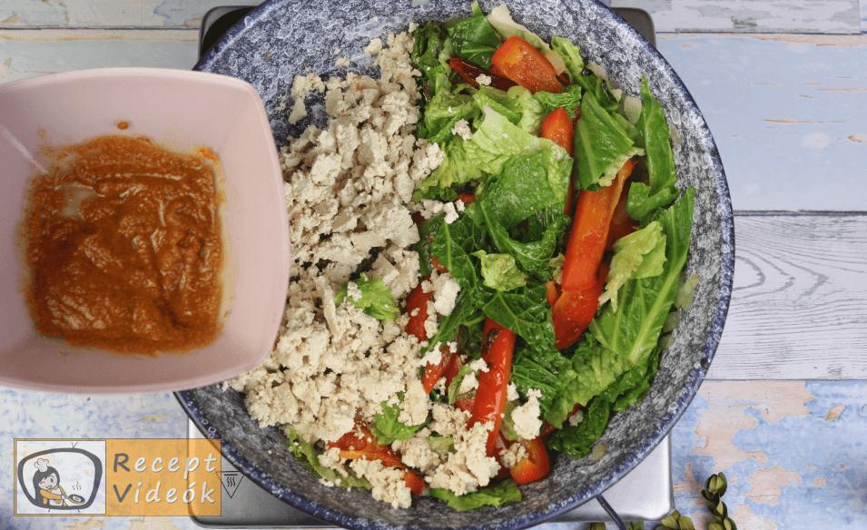 Zöldséges tofu recept, zöldséges tofu elkészítése 5. lépés