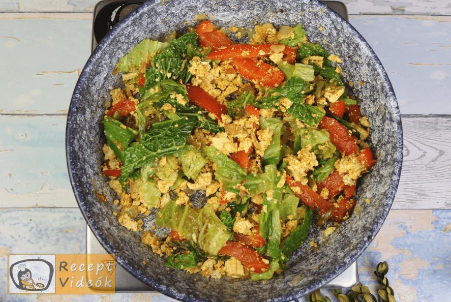 Zöldséges tofu recept, zöldséges tofu elkészítése 6. lépés