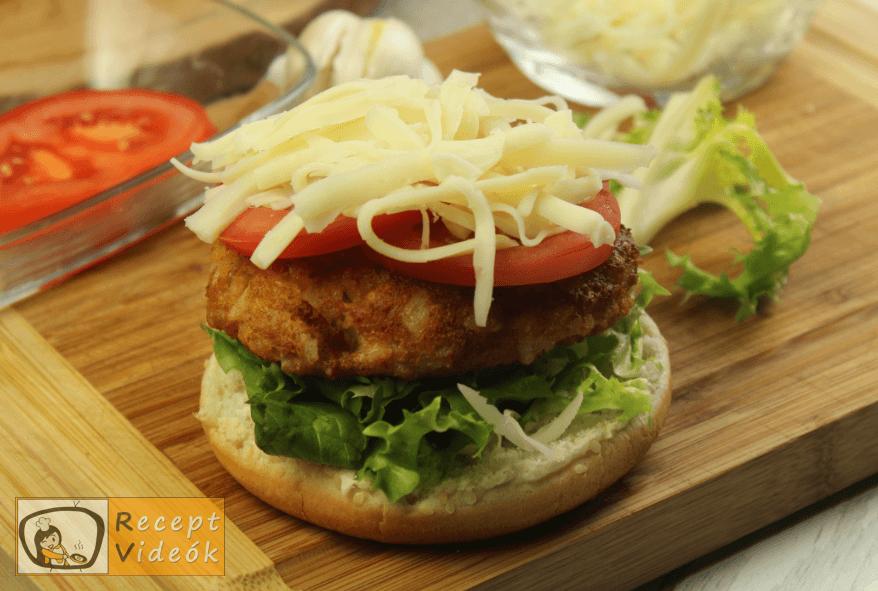 Vega burger recept, vega burger elkészítése 7. lépés