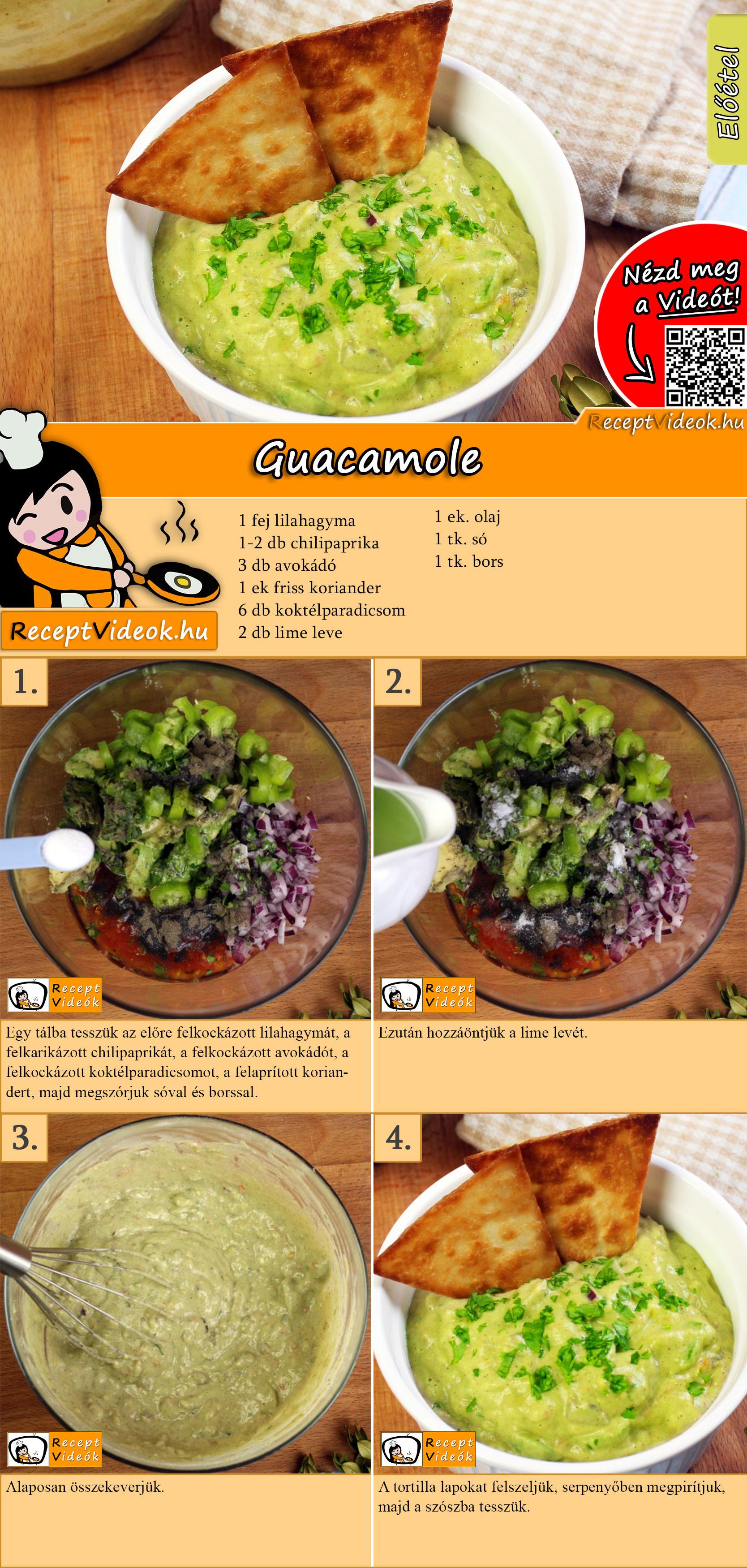 Guacamole recept elkészítése videóval