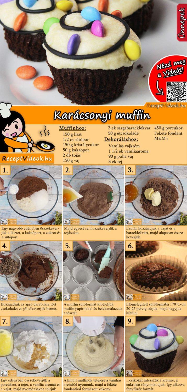 Karácsonyi muffin recept elkészítése videóval