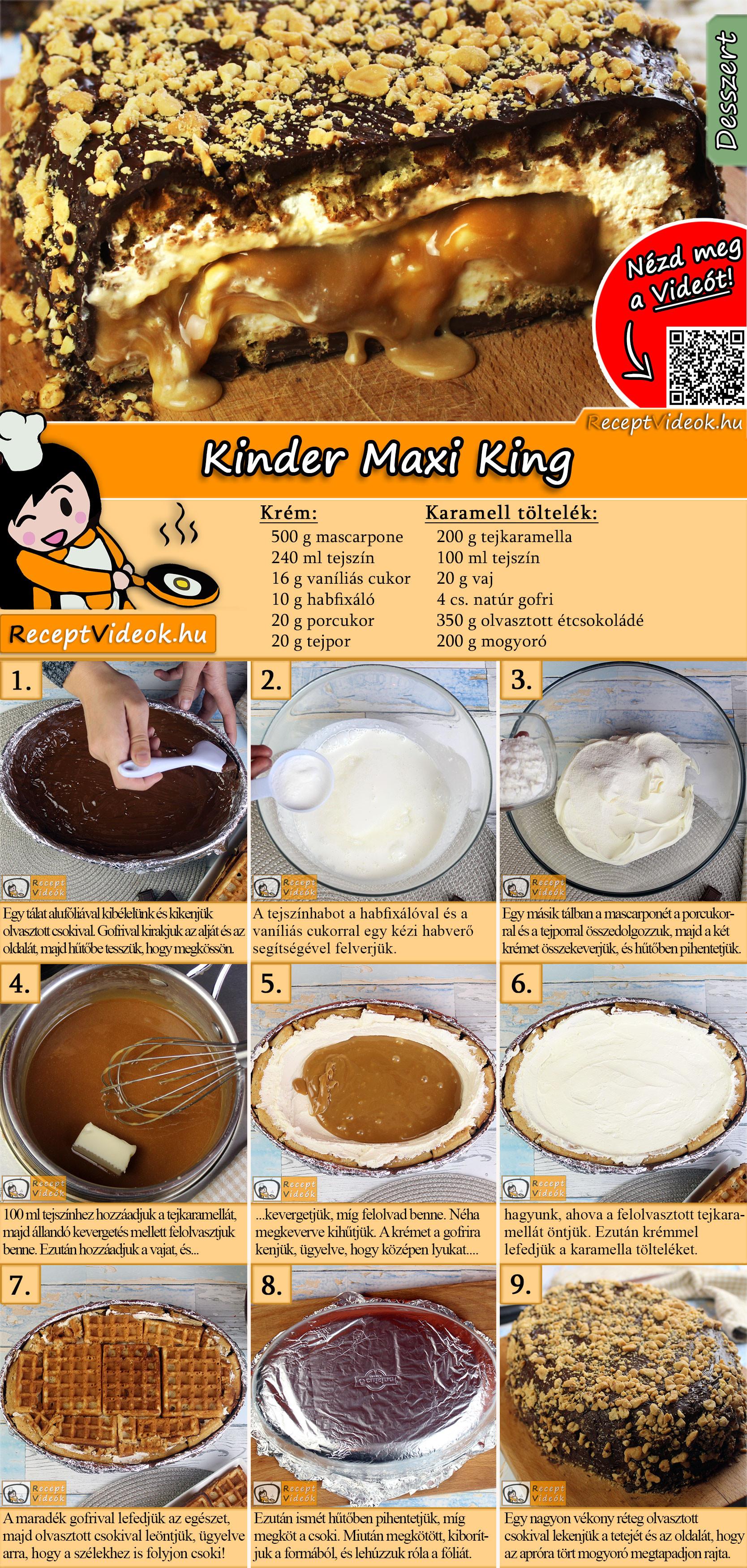 Kinder Maxi King recept elkészítése videóval