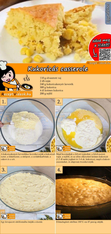 Kukoricás casserole recept elkészítése videóval