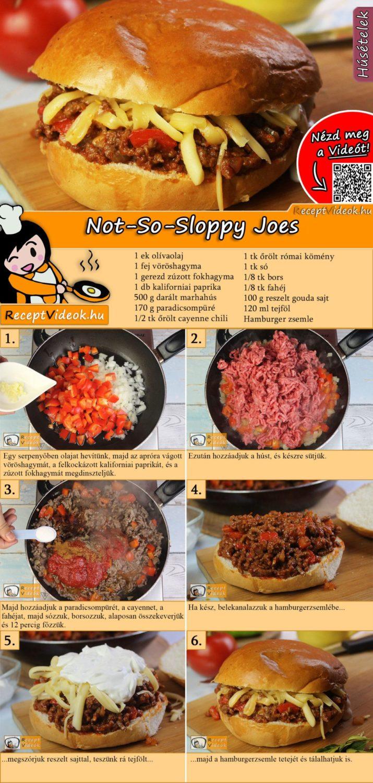 Not-So-Sloppy Joes recept elkészítése videóval