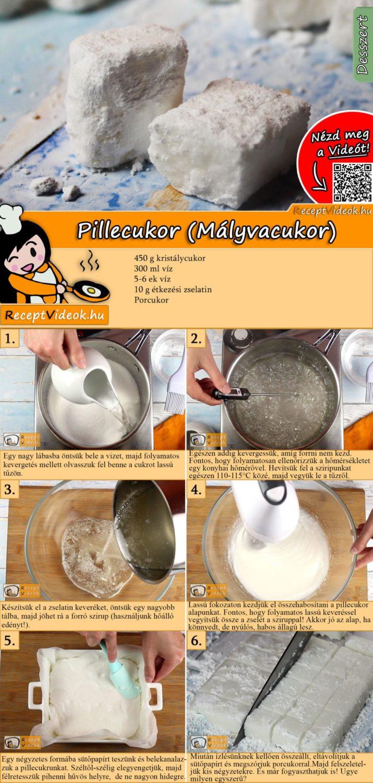 Pillecukor (Mályvacukor) recept elkészítése videóval