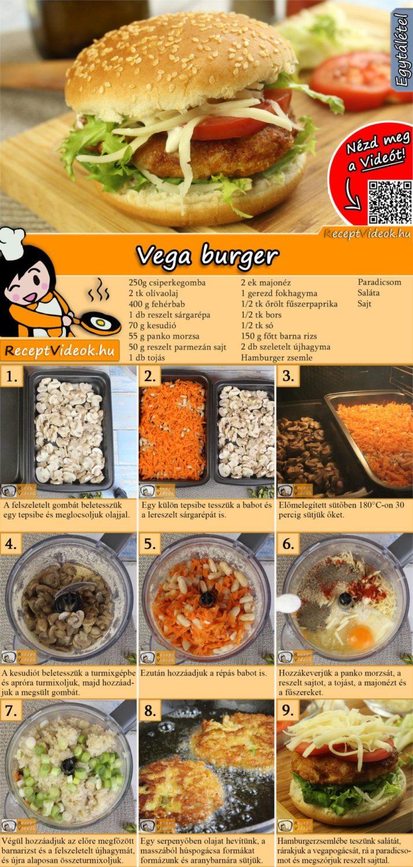Vega burger recept elkészítése videóval