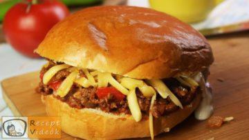 Not-so-sloppy joes recept, not-so-sloppy joes elkészítése - Recept Videók