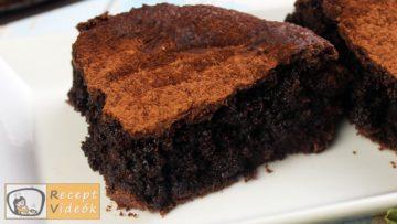 Brownie torta recept, brownie torta elkészítése - Recept Videók