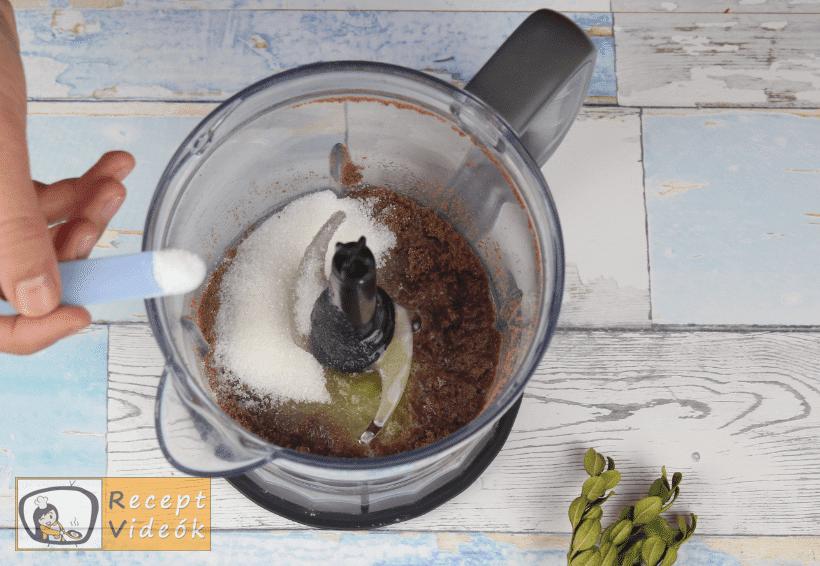 Mentolos-csokis sajttorta recept, mentolos-csokis sajttorta elkészítése 1. lépés