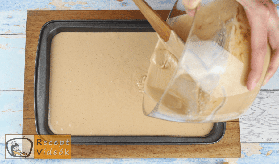 Mentolos-csokis sajttorta recept, mentolos-csokis sajttorta elkészítése 5. lépés