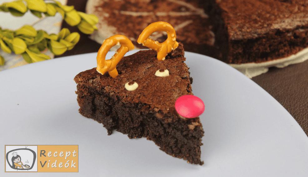 Rénszarvas brownie recept, rénszarvas brownie elkészítése 8. lépés