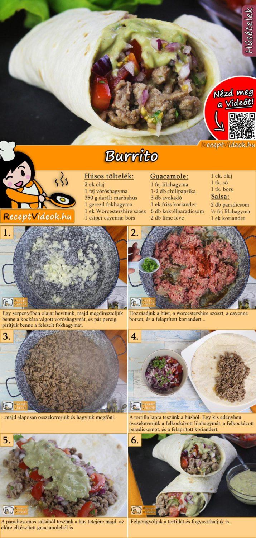 Burrito recept elkészítése videóval