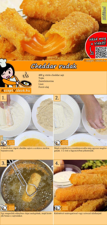 Cheddar rudak recept elkészítése videóval