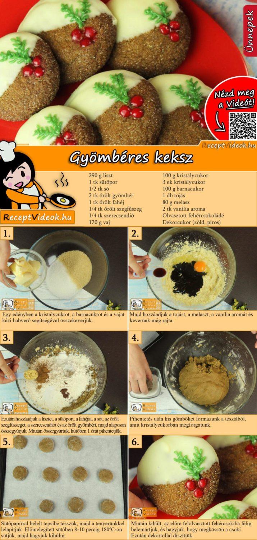 Gyömbéres keksz recept elkészítése videóval