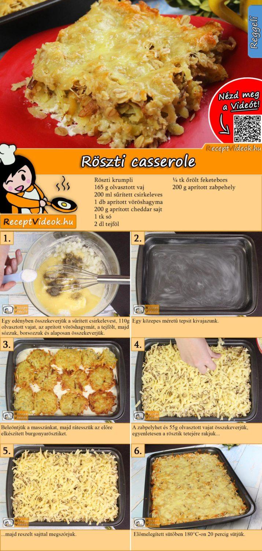 Röszti casserole recept elkészítése videóval