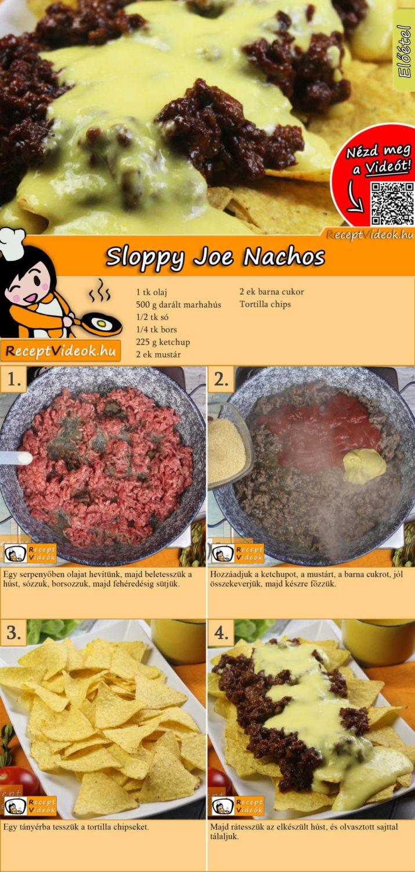 Sloppy Joe Nachos recept elkészítése videóval