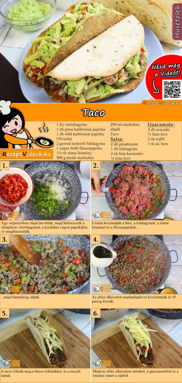 Taco recept elkészítése videóval