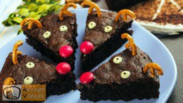 Rénszarvas brownie recept, rénszarvas brownie elkészítése - Recept Videók