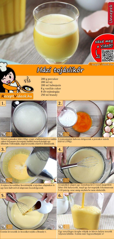 Házi tojáslikőr recept elkészítése videóval