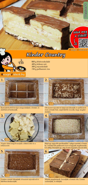Kinder Country recept elkészítése videóval