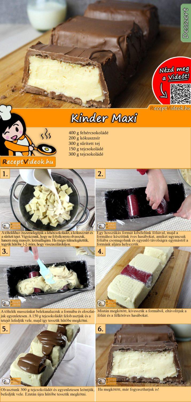 Kinder Maxi recept elkészítése videóval