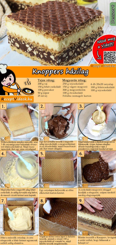 Knoppers házilag recept elkészítése videóval