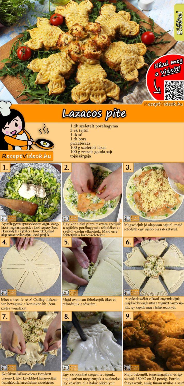 Lazacos pite recept elkészítése videóval