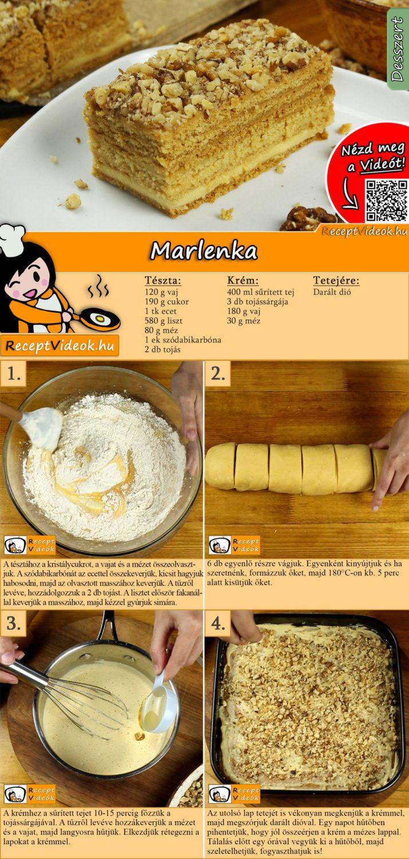 Marlenka recept elkészítése videóval