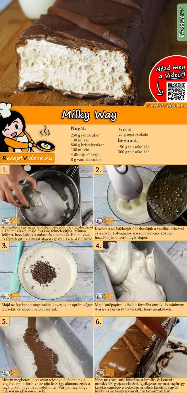 Milky Way recept elkészítése videóval