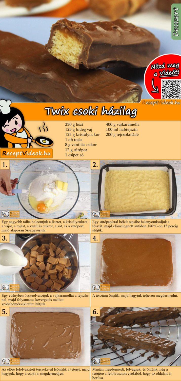 Twix csoki házilag recept elkészítése videóval