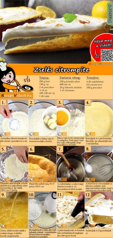 Zselés citrompite recept elkészítése videóval
