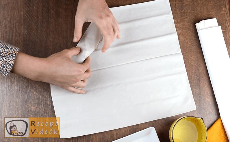 Tavaszi tekercs recept, Tavaszi tekercs elkészítése 4. lépés