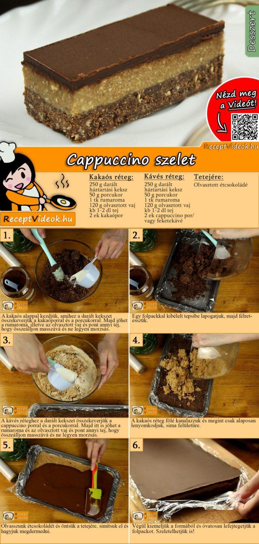 Cappuccino szelet recept elkészítése videóval