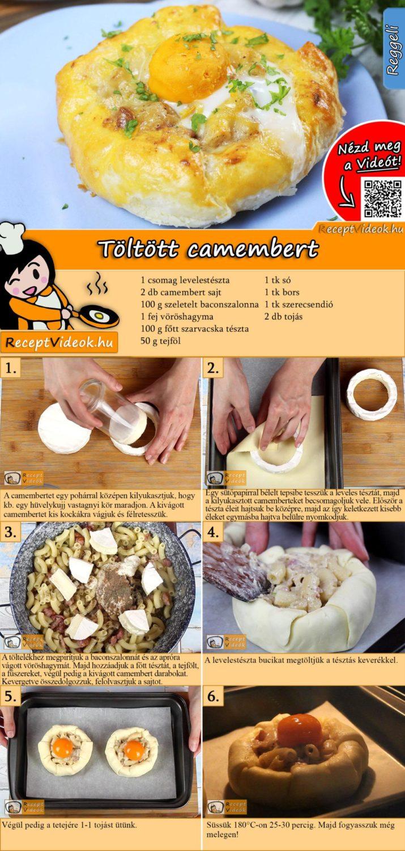 Töltött camembert recept elkészítése videóval