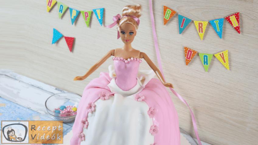 Barbie torta recept, Barbie torta elkészítése - Recept Videók