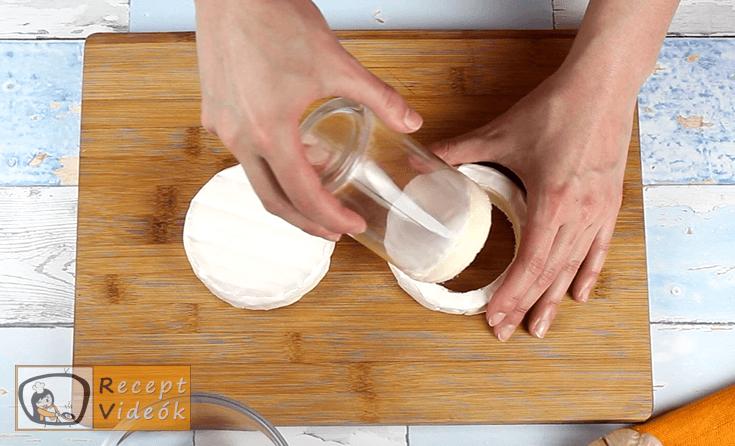 Töltött camembert recept, Töltött camembert elkészítése 1. lépés