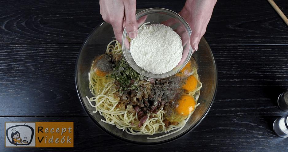 Spagetti torta recept, Spagetti torta elkészítése 2. lépés