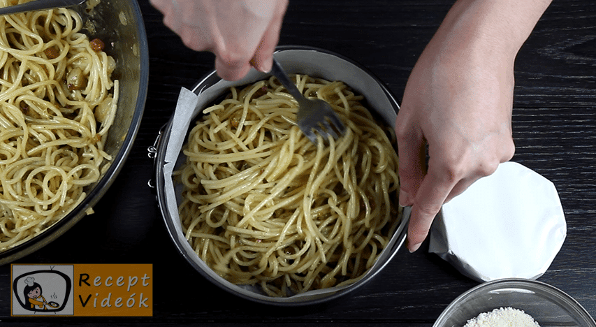 Spagetti torta recept, Spagetti torta elkészítése 3. lépés