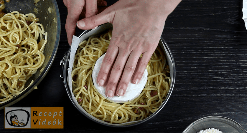 Spagetti torta recept, Spagetti torta elkészítése 4. lépés