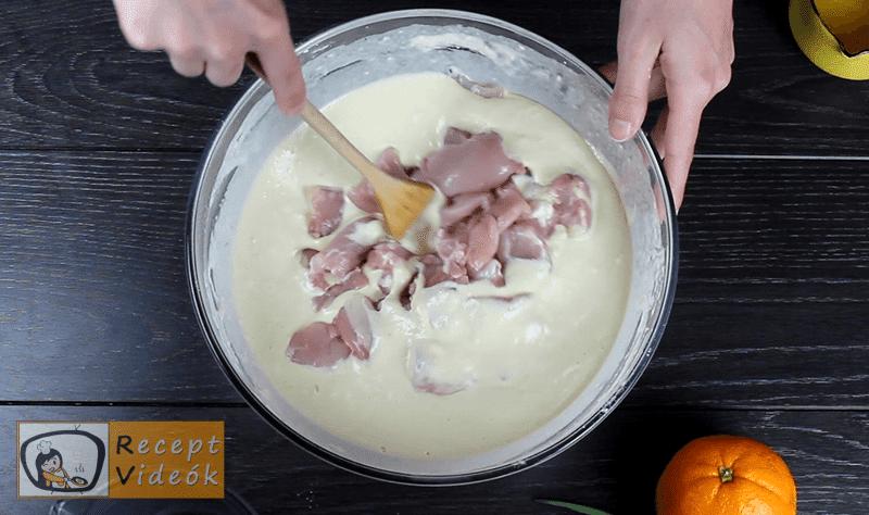 Narancsos csirke recept, Narancsos csirke elkészítése 4. lépés
