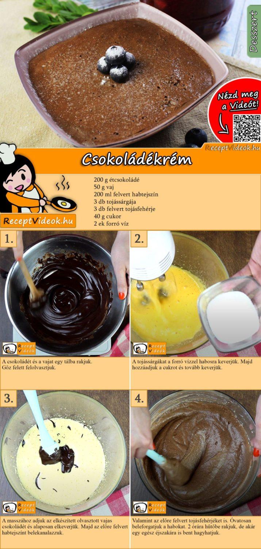 Csokoládékrém recept elkészítése videóval