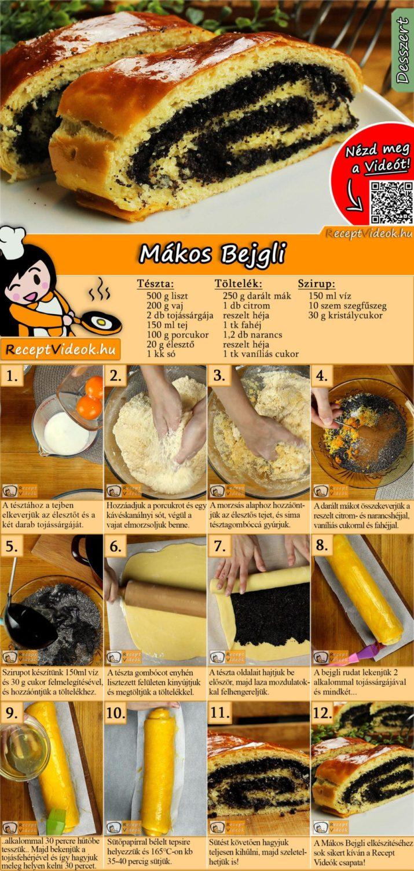 Mákos Bejgli recept elkészítése videóval