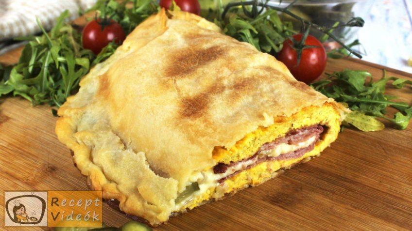 Tojásos calzone recept, Tojásos calzone elkészítése - Recept Videók