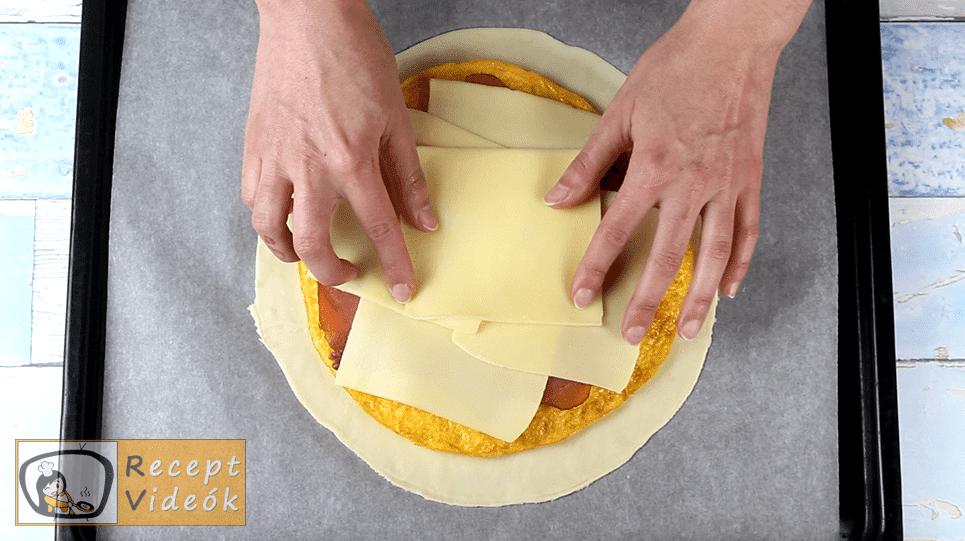 Tojásos calzone recept, Tojásos calzone elkészítése 4. lépés