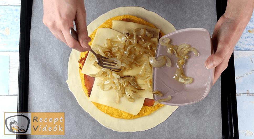 Tojásos calzone recept, Tojásos calzone elkészítése 5. lépés