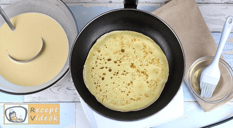 Palacsintatorta recept, Palacsintatorta elkészítése 3. lépés