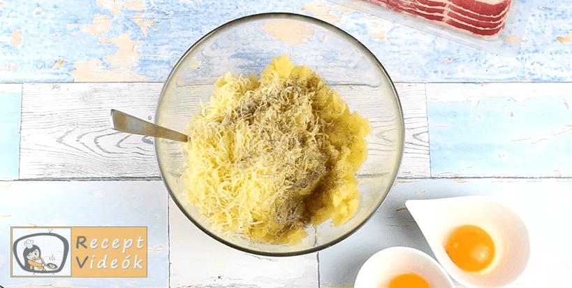 Töltött sült burgonya recept, Töltött sült burgonya elkészítése 3. lépés