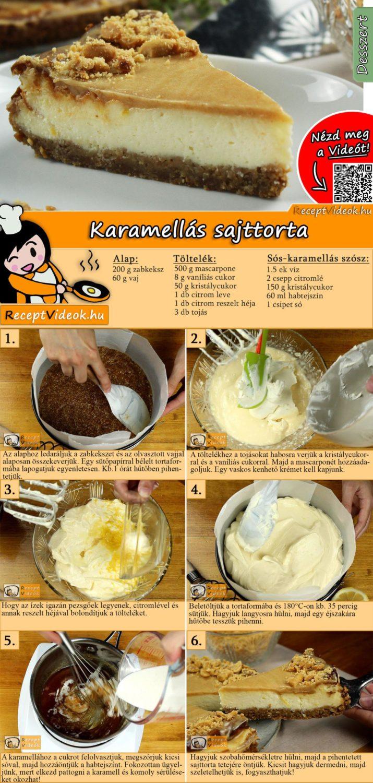 Karamellás sajttorta recept elkészítése videóval