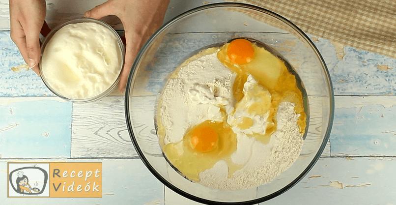 Hatlapos sütemény recept, Hatlapos sütemény elkészítése 2. lépés